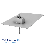 QUICKMOUNT Flashing E-Mount Lag 9x12 inch Mill Finish Qt.1