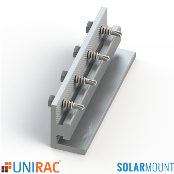 UNIRAC - Splice Bar Clear Bonding Serrated SolarMount SM Qty.1
