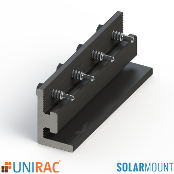 UNIRAC Splice Bar DARK Bonding Serrated SolarMount SM Qty.1