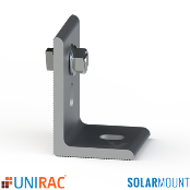UNIRAC L-Foot Clear Serrated with T-Bolt SolarMount SM Qty.1
