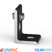 UNIRAC L-Foot DARK Serrated with T-Bolt SolarMount SM Qty.1