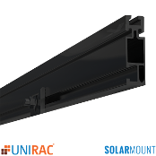 UNIRAC Rail Standard Duty 168 in. 14 Ft. DARK SolarMount SM