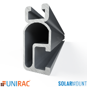 Unirac Rail Light Duty 168 in. 14 Ft. Mill SolarMount SM