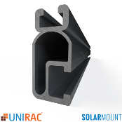 UNIRAC Rail Light Duty 168 in. 14 Ft. DARK SolarMount SM