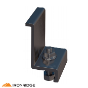 IRONRIDGE End Clamp C Kit, 1.57in Black, 4 pcs. 29-7000-157B