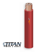 TITAN PV Wire 10AWG 1000VDC RED Single Jacket 19STRBC