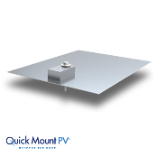 QUICKMOUNT Classic Conduit Mount Flashing QMCC, Quantity 1