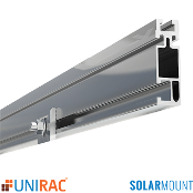 UNIRAC Rail Standard Duty 132 in. 11 Ft. CLEAR SolarMount SM