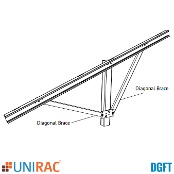 UNIRAC 404011 DGFT Diagonal Brace Assembly 20D