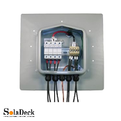 SOLADECK PV TILE Roof-Mount AC/DC Combiner Enclosure Box