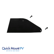 QUICKMOUNT Quick Rack Skirt End Caps Black (Set of 2) Qt.25