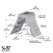 S-5! RibBracket Mini for R-Panel metal roof
