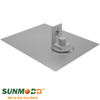 SunModo - K10068-001 EZ Roof Mount Kit w/ L-Foot Clear Rafter