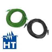 HT KITPVEXT25M Set of 2 4mm Banana Cables, Green/Black, 25m
