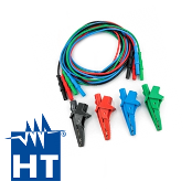 HT KITGSC4 Cable Kit Set 4 Cables + 4 Alligator Clips