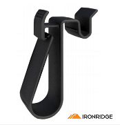 IRONRIDGE Wire Clip Molded PVC Black (Polybag, 20pcs)