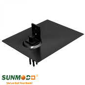 SunModo EZ Roof Mount Kit, L-Foot, Black, Decking K10068-B20