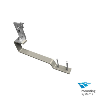 MOUNTING SYSTEMS Roof Hook for Flat Concrete Tile w/ L-foot, rail attachment and lag bolts
