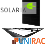 Solaria With Unirac Sunframe Shared Rail System