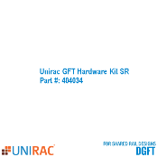 UNIRAC GFT Assembly Hardware Kit SR 404034