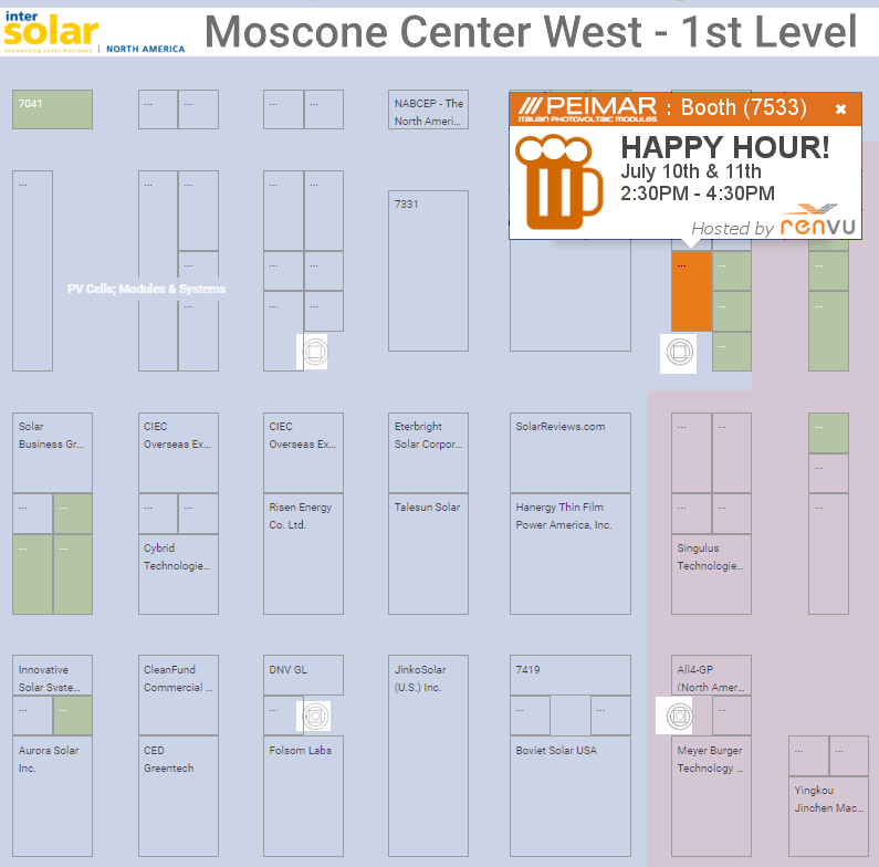 Intersolar 2018 Map Happy Hour