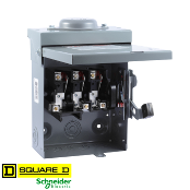 SQUARE-D DU322RB AC Disconnect, NEMA3R, 60A 240VAC,3-Pole UF