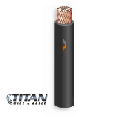 TITAN PV Wire 10AWG 1000VDC BLACK Single Jacket 19STRBC