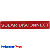 HELLERMANN TYTON Solar Label SOLAR DISCONNECT Qty.1
