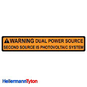 HELLERMANN TYTON Solar Label DUAL POWER SOURCE Qty1